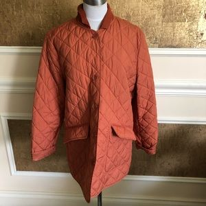 Jackets & Blazers - Faconnable terracotta lightweights quilted coat L